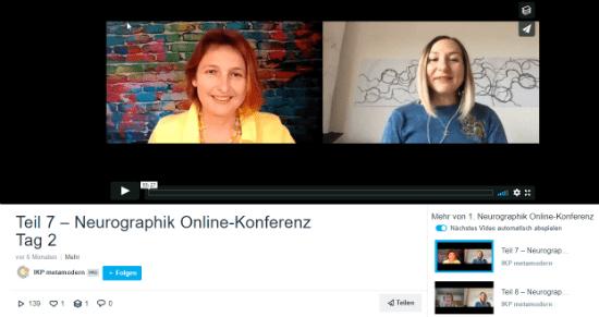 Doris Bürgel spricht auf der 1. Neurographik Online-Konferenz