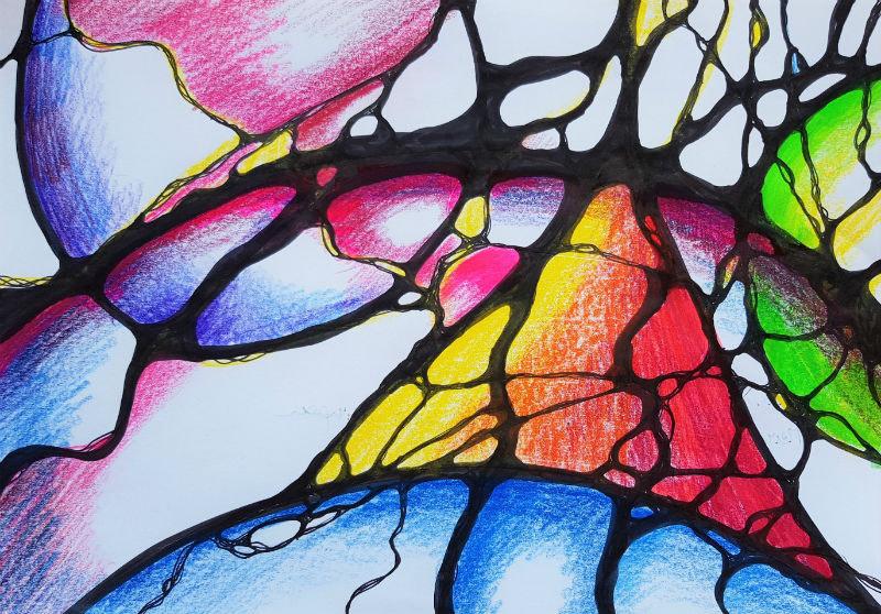 Neurograhik Entladung zeichnerische Problemlösung 2